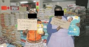 2 Women Caught Shoplifting SHAMED