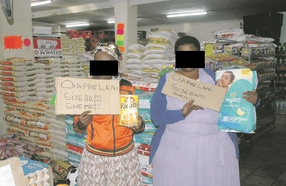 2 Women Caught Shoplifting SHAMED