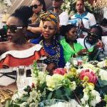 Unathi at Minnie Dlamini Wedding