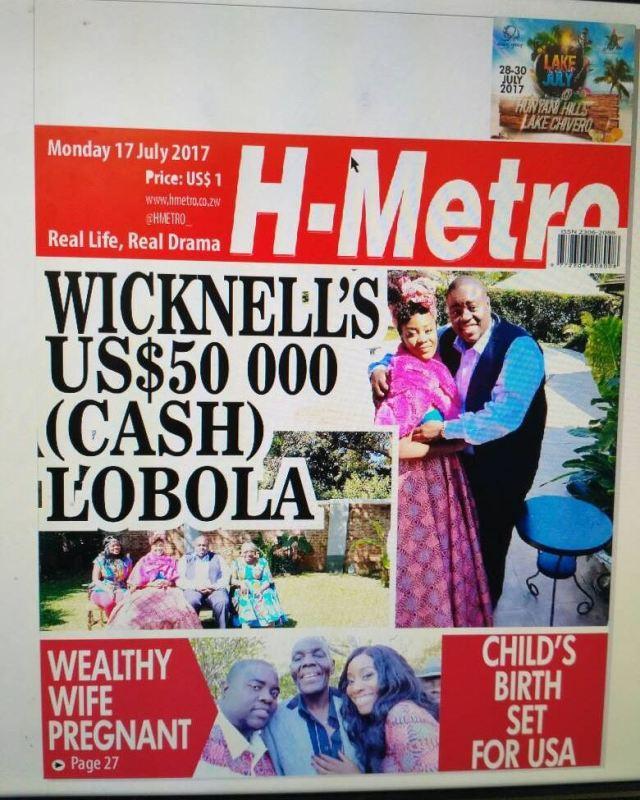 Wicknell Pays $50000 Lobola