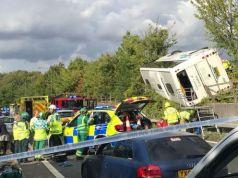 M25 coach crash
