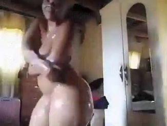 Big Booty Babe Bathing