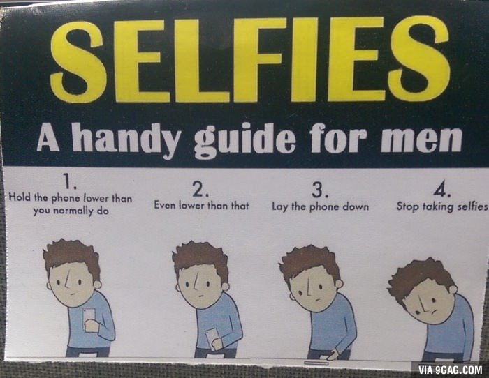 A guide for men for taking selfies