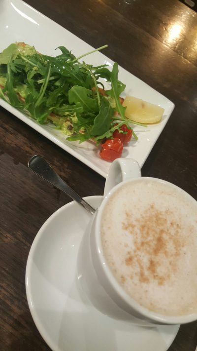 I do love my Aussie avo feta smash with my soy chai latte. Thanks Coffee Club!
