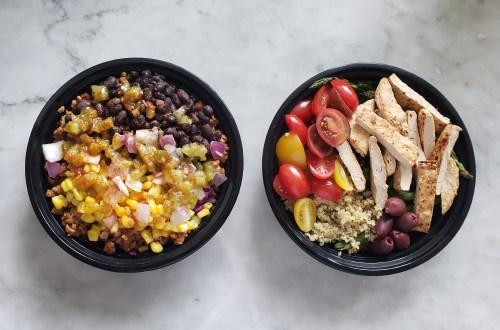 vegan-burrito-bowl-mediterranean-scallopini-meal-prep