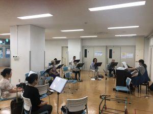 NHCサロン・ポップス練習風景