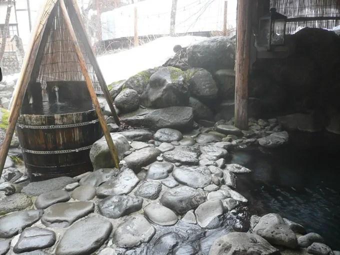 青荷温泉・お風呂の紹介・混浴露天風呂