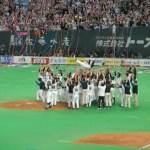 ○ 2009.10.06 L4-5F サヨナラ勝利でリーグ優勝決定