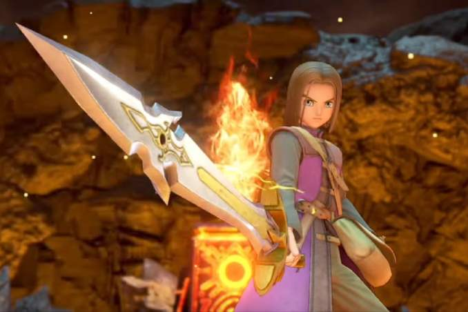 """Das Bild zeigt den Helden in """"Dragon Quest XI S: Streiter des Schicksals – Definitive Edition""""."""