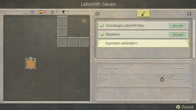 """Das Bild zeigt den Dungeon-Builder in """"Link's Awakening""""."""