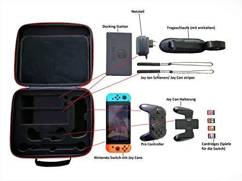 Epic Store Nintendo Switch Tasche - Überblick über den verfügbaren Platz