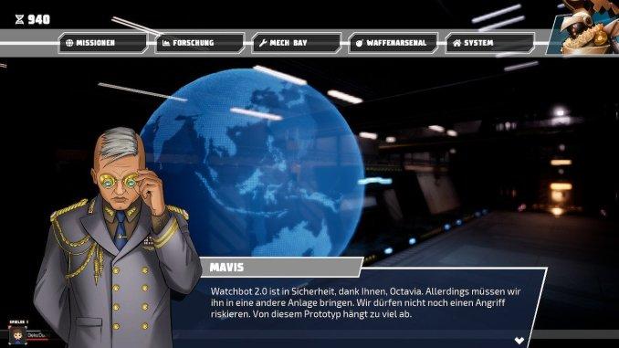 Storymodus, Textbox vom Boss-Charakter aus Override Mech City Brawl