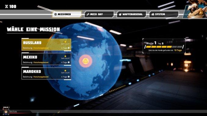 Missionsübersicht aus dem Arcade-Modus von Override Mech City Brawl