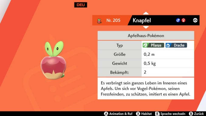 Das Foto zeigt das Pokémon Knapfel, welches in meinem Freundeskreis sehr beliebt ist.