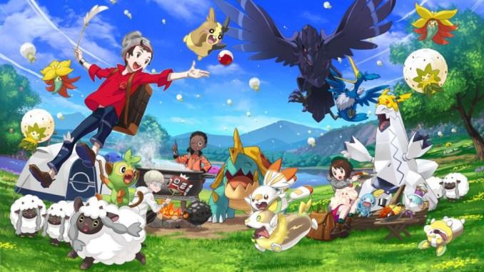 Das Foto zeigt gut gelaunte Pokémon samt Trainern. Es wird gekocht und alle haben Spaß.