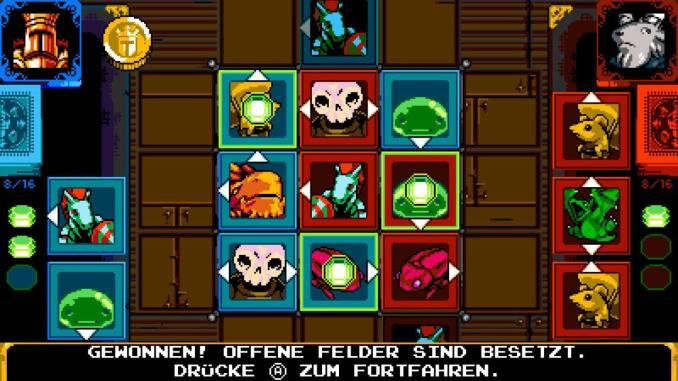 Shovel Knight: King of Cards Tjost Bildschirm