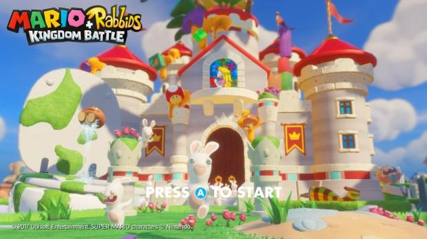 Das Foto zeigt das Schloss von Peach aus Mario + Rabbids Kingdom Battle.