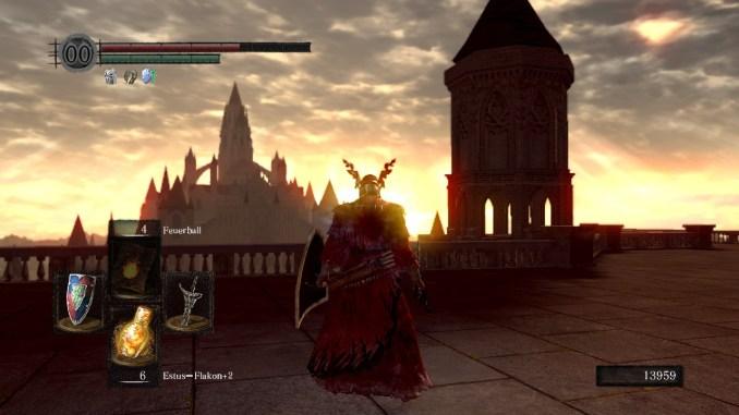 Dark Souls Anor Londo Sonnenuntergang