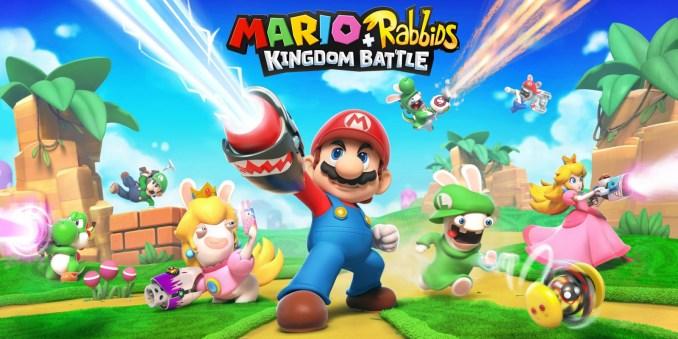 Das Foto zeigt das Werbebild zu Mario + Rabbids Kingdom Battle, welches in den erwähnten Top 15 auf Platz 1 ist.