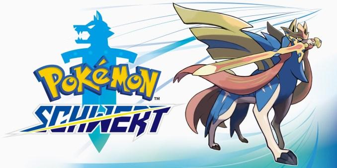 Das Foto zeigt ein Werbebild zu Pokémon Schwert; Amazon.