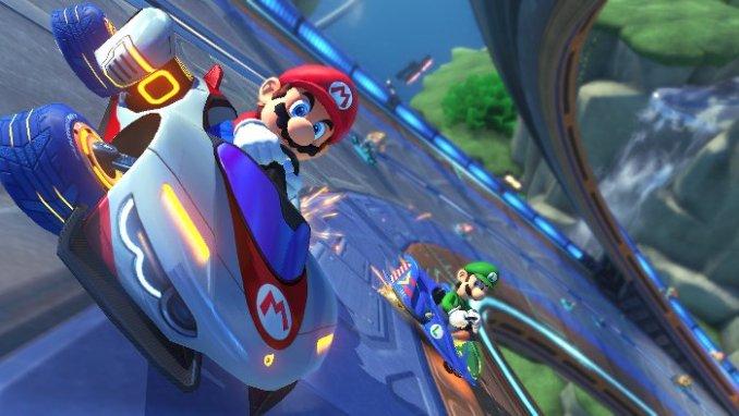 Das Foto zeigt eine Szene aus Mario Kart 8 Deluxe.