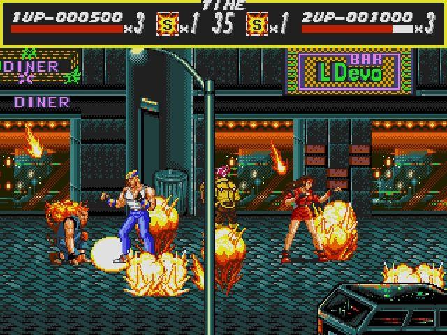 Das Foto zeigt einen Ausschnitt aus Streets of Rage.