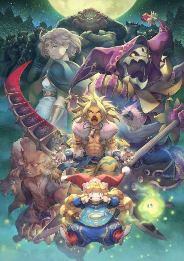 Das Foto zeigt eine Zusammenstellung an Charakteren bei Vollmond in der Natur.