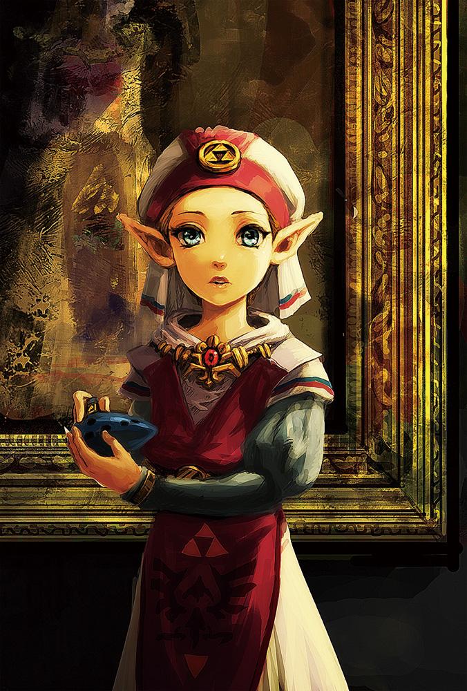 Das Bild zeigt die junge Prinzessin Zelda aus The Legend of Zelda: Ocarina of Time.