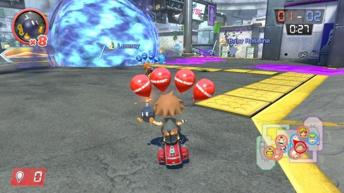 Das Bild zeigt eine detonierenden Bomb-omb.