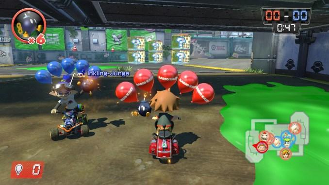 """Das Bild zeigt einen Ausschnitt aus dem Game """"Bomb-omb-Wurf""""."""