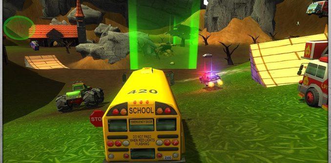 Das Bild zeigt einen Ausschnitt von Crash Drive 2