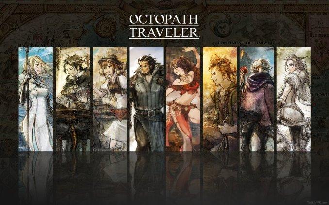 Das Bild zeigt die acht Charaktere aus Octopath Traveler für die Nintendo Switch.