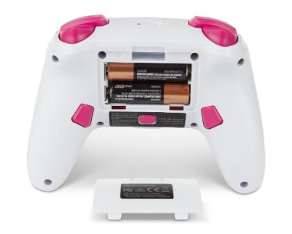 Auf dem Bild ist der Controller mit eingesetzten AA Batterien zu sehen.