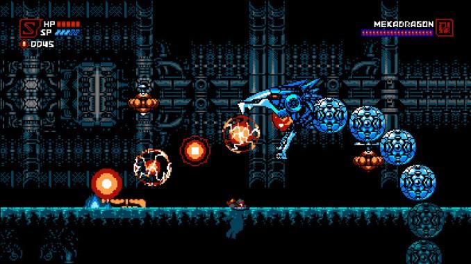 Das Bild zeigt einen Spielausschnitt von Cyber Shadows (Yacht Club Games).