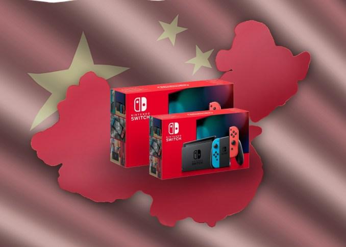 Das Bild zeigt die Nintendo Switch vor chinesischer Flagge (Lieferengpässe).