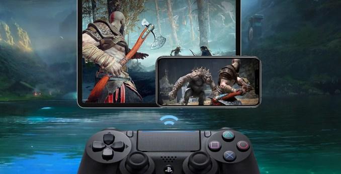 Das Bild zeigt die Funktionsweise von Remote-Play der Sony Playstation 4