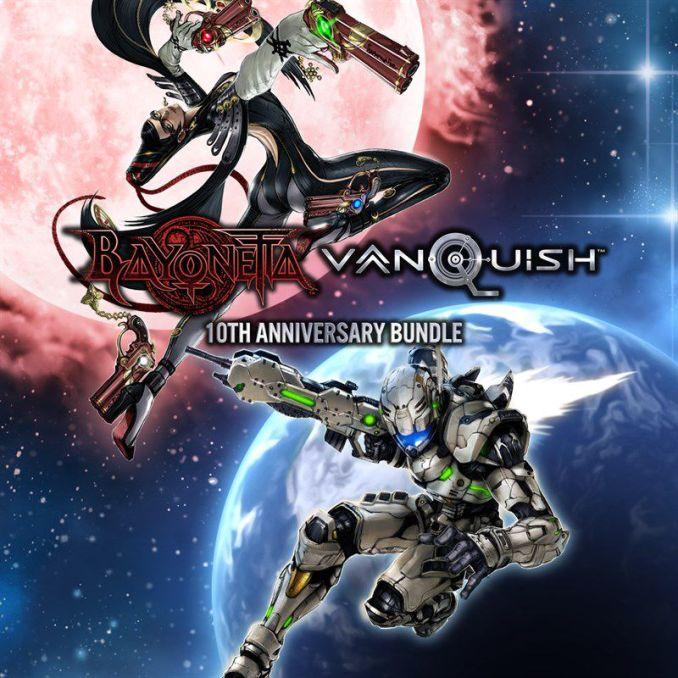 Das Bild zeigt die Ankündigung des 10th Anniversary Bundle von Bayonetta und Vanquish (Platinum Games).