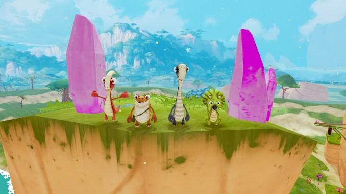 Das Bild zeigt die wichtigsten Helden in dem Spiel Gigantosaurus: The Game.