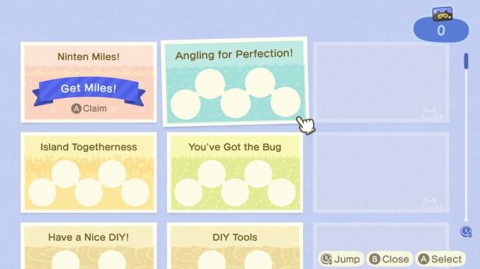 Das Bild zeigt, verschiedene Aufgaben für das Nook Meilen Programm. Diese Aufgaben werden in unserem Animal Crossing: New Horizons Countdown erklärt.