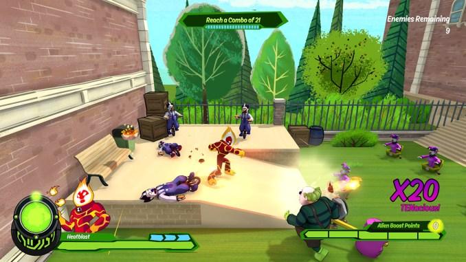 Das Bild zeigt das Kampfgeschehen in Ben 10 für Nintendo Switch.