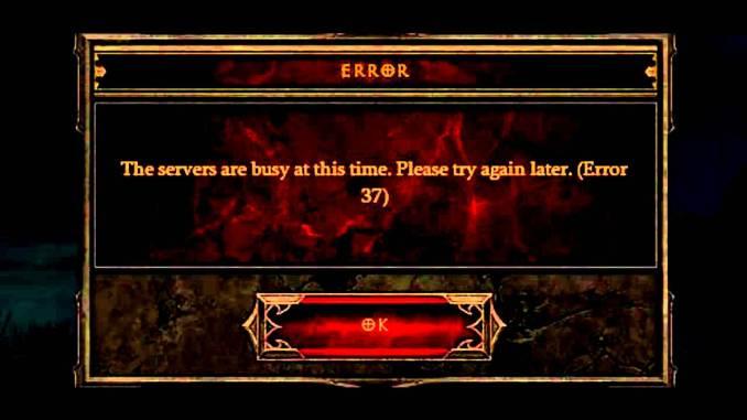 Haltbarkeit Artikel – ein Bild von Diablo 3s Error 37