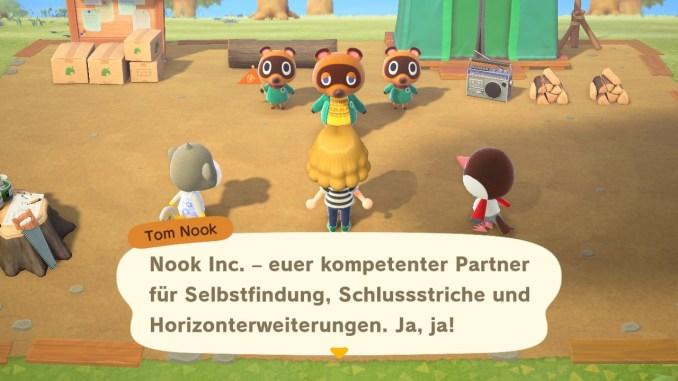 Das Bild zeigt die Einführungssequenz in Animal Crossing: New Horizons. Das Spiel wurde von dem Entwicklerstudio Bandai Namco kritisiert.