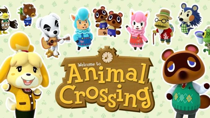 Auf dem Bild ist das Animal Crossing Logo zu sehen.