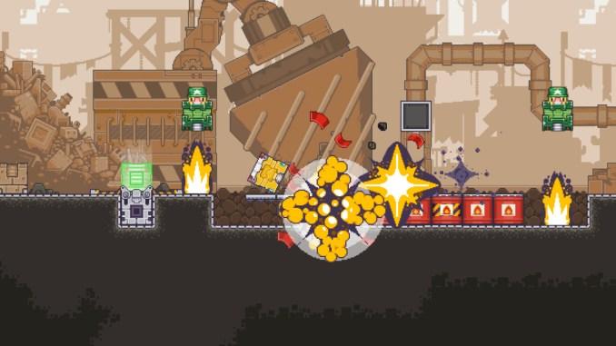 Das Bild zeigt eine Szene aus Gunbrick: Reloaded