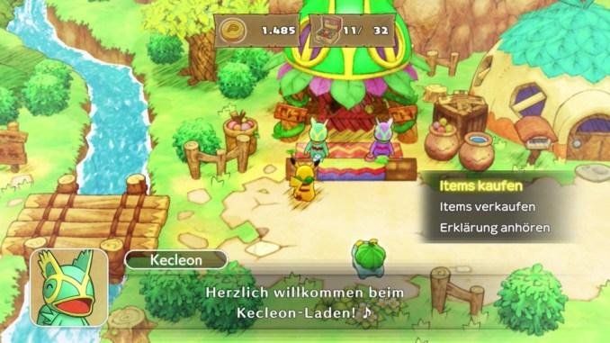 Das Bild zeigt den Dorfladen aus Pokémon Mystery Dungeon: Retterteam DX.