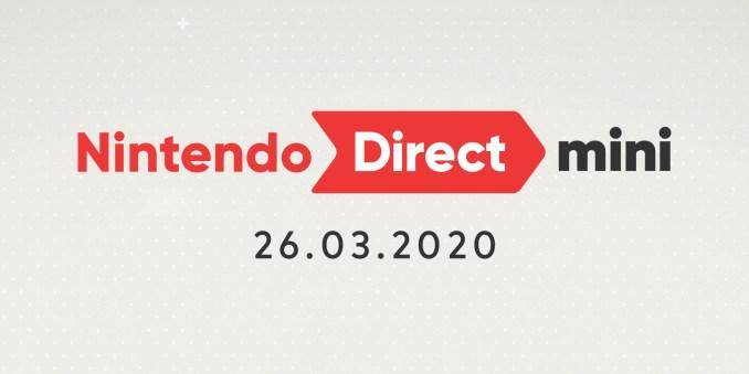 Das Bild zeigt den Schriftzug der Nintendo Direct Mini vom 3.26.2020.