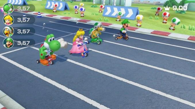Das Bild zeigt ein Minispiel aus Super Mario Party.