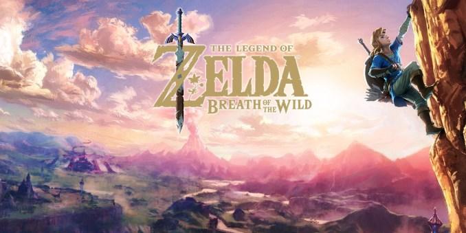 Das Bild zeigt den Titelbildschirm von The Legend of Zelda: Breatz of the Wild. Monolith Soft hat dabei geholfen das Gras zu animieren.