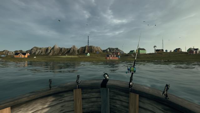 Das Bild zeigt eine Szene aus Ultimate Fishing Simulator