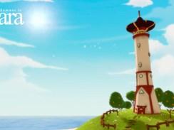 Auf dem Bild ist ein Leuchtturm vor dem Meer zu sehen. Das Bild trägt den Schriftzug Summer in Mara
